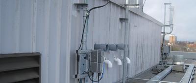 Boiler vents near antenna